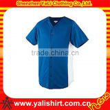 China manufacturer blue short sleeve mesh baseball buttons shirt baseball jersey wholesale