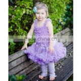 boutique petti tutu skirt set at wholeasle price purple premium pettiskirts with lace ruffle top set baby girl summer sets