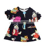 wholesale beauty and beast printing baby girl spring summer dress