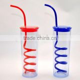 drink cup with screw straw
