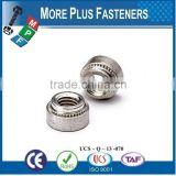 Made in Taiwan Self Clinching Nut Blind Self Clinching Nut Stainless Steel Non Locking Floating Self Clinching Nuts