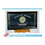 Store Durable Wood Display Accessory With Printing logo , Black MDF Display Sign