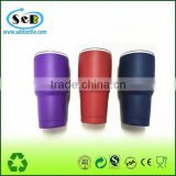 vacuum insulated stainless steel travel tumbler with powder coating