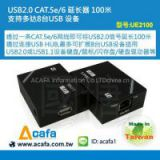 USB2.0 Extender over Cat5e/6- 100m