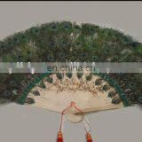 natural peacock feather fan for party