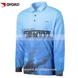 Custom 100% polyester waterproof fishing clothing