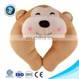 Various design cute plush monkey baby neck pillow custom funny soft stuffed plush u shape pillow