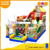 2015 AOQI latest design Indian totem inflatable fun city playground for kids for sale