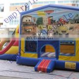 Outdoor car theme inflatable bouncy combos NC009