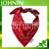 Wholesale Cotton Polyester Custom Printed Logo Triangle Dog Bandana