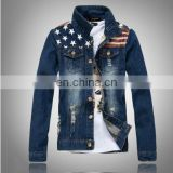 wholesale distressed denim jackets -Denim Clothing Bomber Jacket Woman Wholesale For Winter