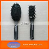 Black rubberized brush for hair styling