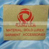 gold lurex luxury weaving woven clothing tag label