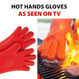 Factory Supplier Wholesale Food Grade Kitchen Cooking Oven Mitts Ayl Silicone Heat Resistant Grilling BBQ Gloves  whatsapp: +8615992856971