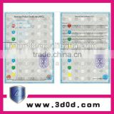 hot sale UV Visible Micro text printing words /security paper with watermark lianlong brand