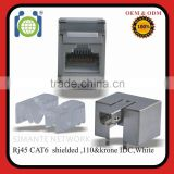 CAT.6 Dual IDC Moudlar jack for patch panel