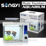 Mini Music fountain tabletop aquarium/fish tank for Christmas