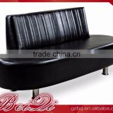 Beiqi Guangzhou Office Furniture Modern Design Black Leather Office Living Room Corner Sofa Waiting Chair
