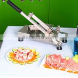 Economic good stainless steel commercial and home use manual small meat slicer meat cutting machine meat slicer machine