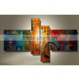 JC Beautiful Color Abstract Wall Art Home Decoration 4 Pieces 100% Handmade Canvas Oil Painting For Bedroom HP-66