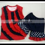 Kids Girls July 4th Day Clothes Sets Children Patriotic July 4th Outfits Boutique 4th Of July Clothing Sets