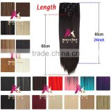 Miss U Hair Wholesale Price Excellent 7pcs/set Long straight Synthetic Hair Extensions Clip In Hairpieces W002
