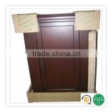 Replace of triple wall corrugated cardboard, honeycomb paper sheet for door