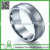 High quality ring jewellery for men center tungsten matte wedding ring best price anniversary ring