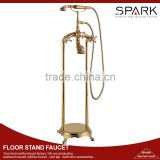 English telephone gold antique freestand floor stand faucet