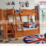 hot sale bedroom furniture solid wood kids bunk bed k2201-2203