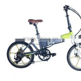 36v 250w small folding electric bicycle battery in frame