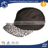 Hip hop style cheap custom logo 5 panel hat sewing pattern