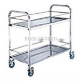 FAYK.QRDL2 FILMA Tea Trolleys-2 Tier Stainless Steel Drinking Cart - Square Tube
