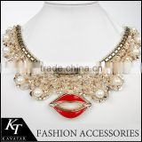 Top selling ! 2015 New arrival sequin neckline rhinestone applique