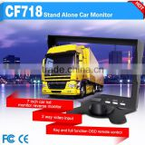 Auto switch when back the vehicle 7 inch bus tv monitor special for bus and truck with sun shader
