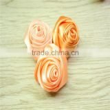 NEW HOT SALE!!Small Satin Rosette Fabric Flower - silk fabric flowers - hair/garment accessories