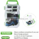 3.6v lithium mini electric cordless screwdriver