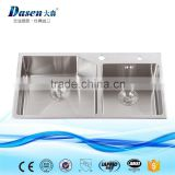 New premium euro kitchenware custom size double strainer kitchen sink with pipe                                                                                                         Supplier's Choice