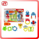 Newest design plastic baby wrist rattles set