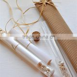 Lovely & creative beach themed bottle wedding invitation in a glass tube for wedding                                                                         Quality Choice