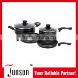 6Pcs Pressed Aluminum Cookware Set/Non-stick Cookware Sets with Black Bakelite Handle