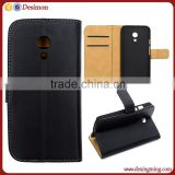 Factory mobile phone accessories leather flip cover case for moto g2