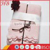 2016 China supplier solid knitted baby blanket,baby blanket manufacturers china