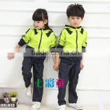 Top fashion boys and girls tracksuit/sports wear, latest design kindergarten kids uniforms