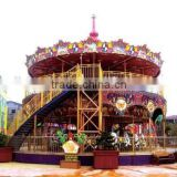 double deck hot carousel rides merry go round