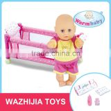 New design hot sale cheap 12 inch china baby alive doll with bed