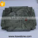 silver grey tea tray diamond granite chinese natural granite