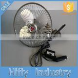 HF-830 DC 12V/24V Car Fan Oscillating Portable Auto Car Fan 8 Inch Mini Aluminum Blade Car Fan With Speed Switch