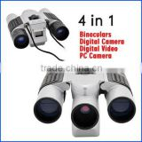 Digital Camera with Binocular 4 in 1 Fashion Digital Binocular Camera,0.3MP CMOS Sensor, paparazzo journalist equipment DVR