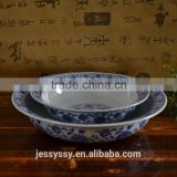 Ceramic High Heel Shallow Bowl Dinnerware Sets Wholesale